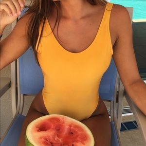 Other - Yellow one piece suit